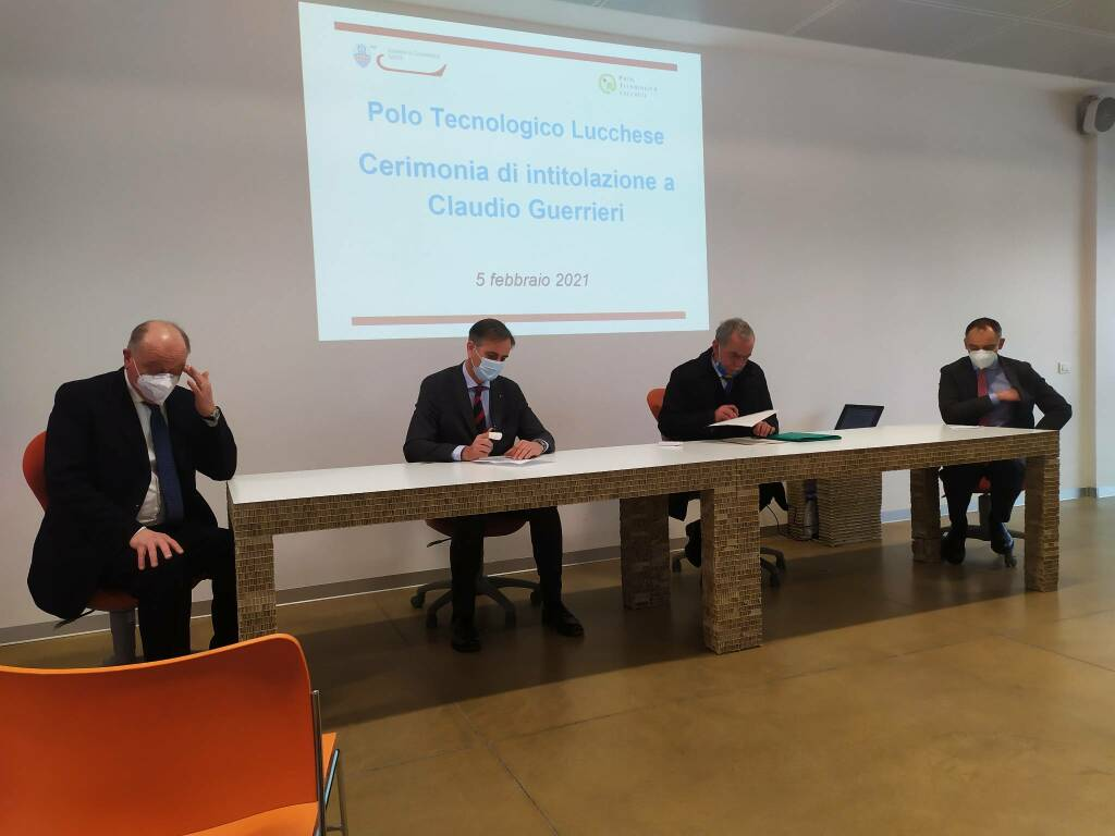 Intitolazione Polo tecnologico a Claudio Guerrieri