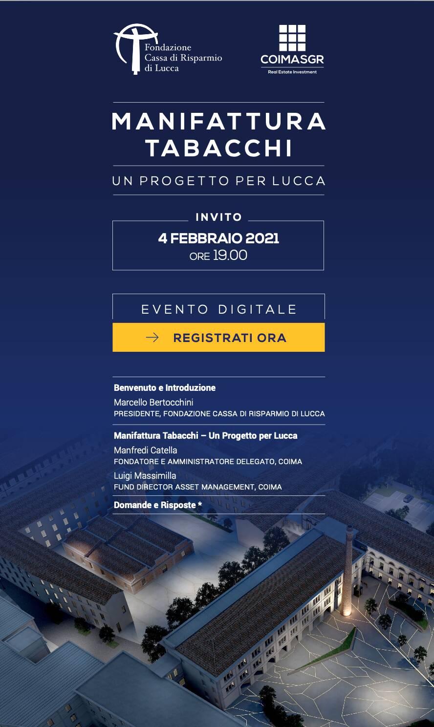 invito Coima Fondazione Crl