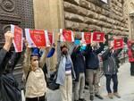 lavoratori dello spettacolo in piazza a Firenze