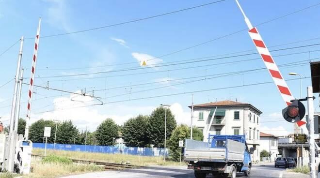 passaggio a livello via Francesca Romea Altopascio