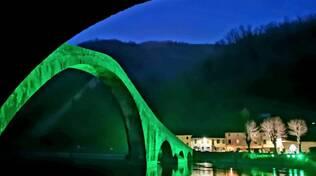 Ponte del Diavolo in verde