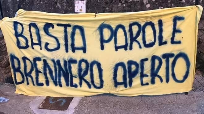 Protesta chiusura Brennero