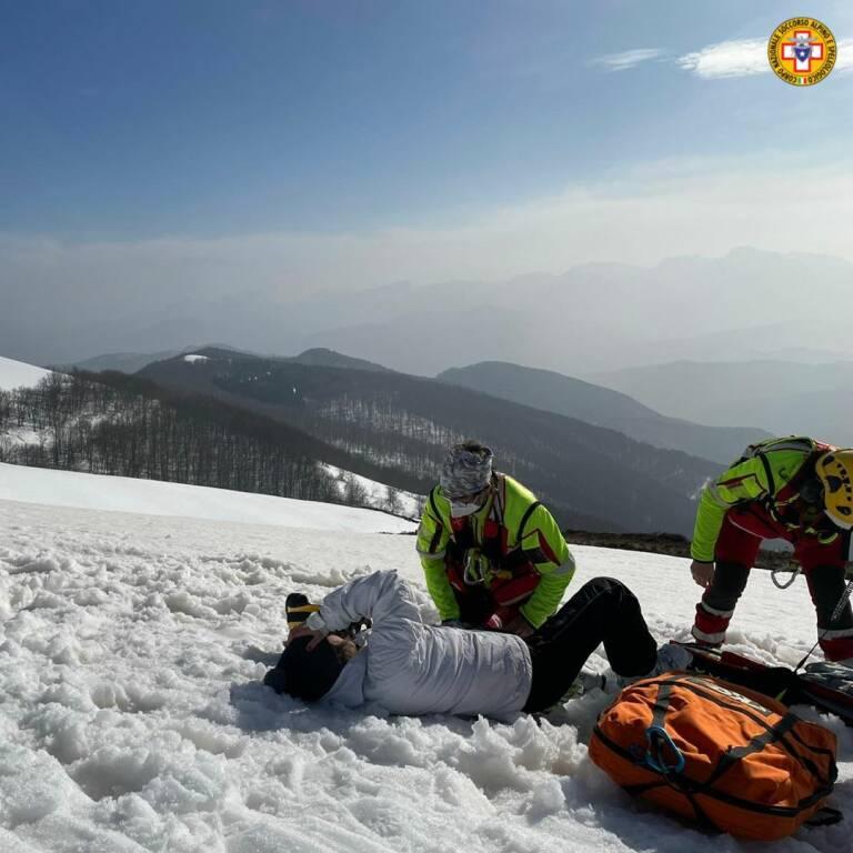 recupero soccorso alpino Sast scialpinista