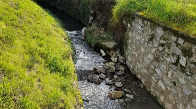 argine crollato del fosso Fontana
