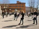 Commercianti in piazza Grande