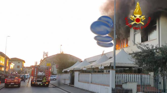 incendio Chiesina Uzzanese struttura ricettiva