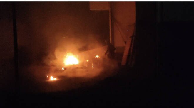 incendio via don Oreste Nuti Santa Maria a Monte