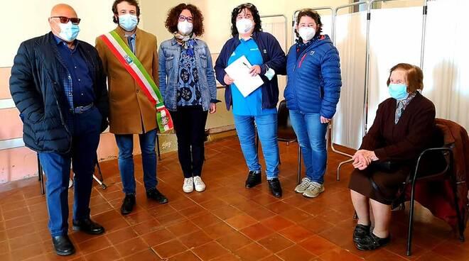Inizio vaccinazioni anticovid Borgo a Mozzano