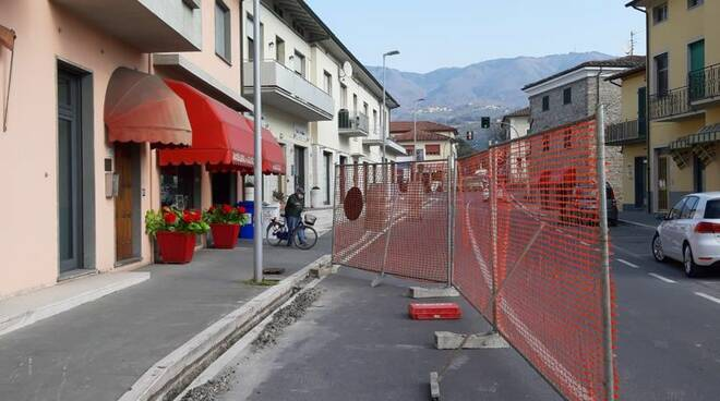 lavori per l'illuminazione a Capannori