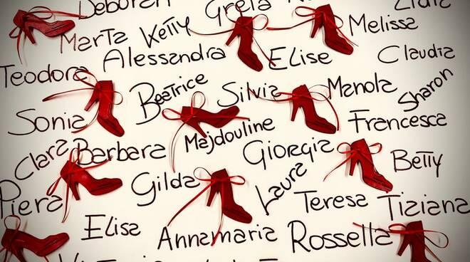 Le nostre scarpette rosse hanno un nome, manifestazione territorio in comune san miniato 8 marzo