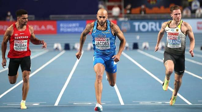 Marcell Jacobs Lamont 60 metri indoor campione europeo