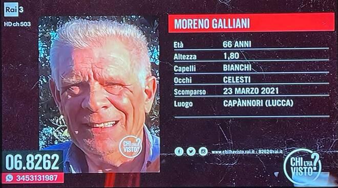 Moreno Galliani scomparso Chi l'ha visto? Capannori