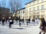 Piazza Grande manifestazione commercio Lucca