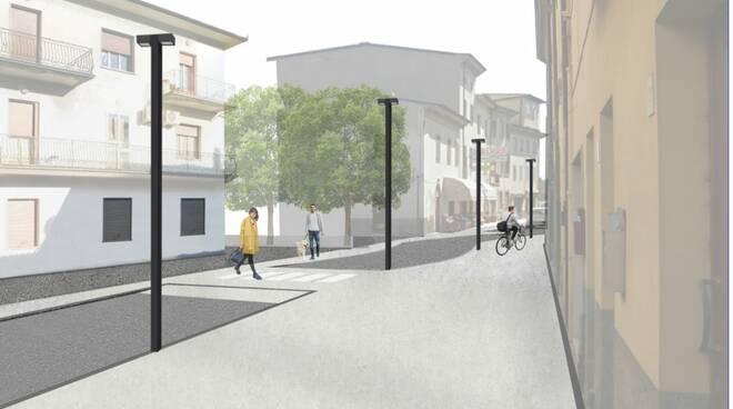 Salotto urbano Capannori piazza Aldo Moro