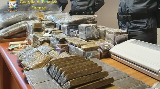 Sequestro droga guardia di finanza Fiesole
