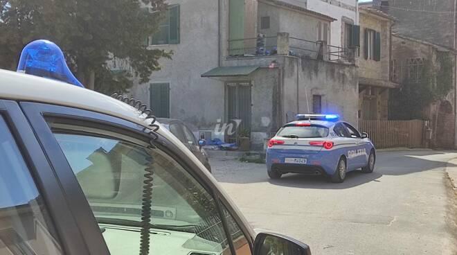 Sopralluogo della polizia scientifica a Orentano per il caso di Khrystyna Novak - 23 marzo 2021