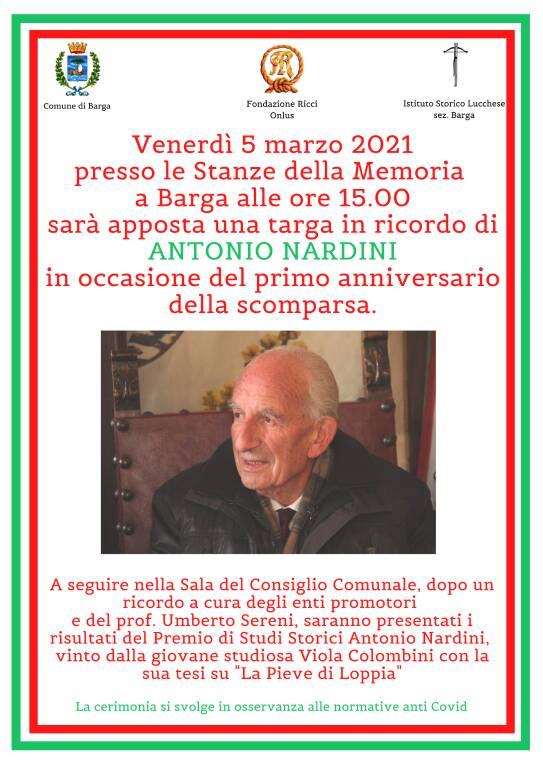 Targa per Antonio Nardini
