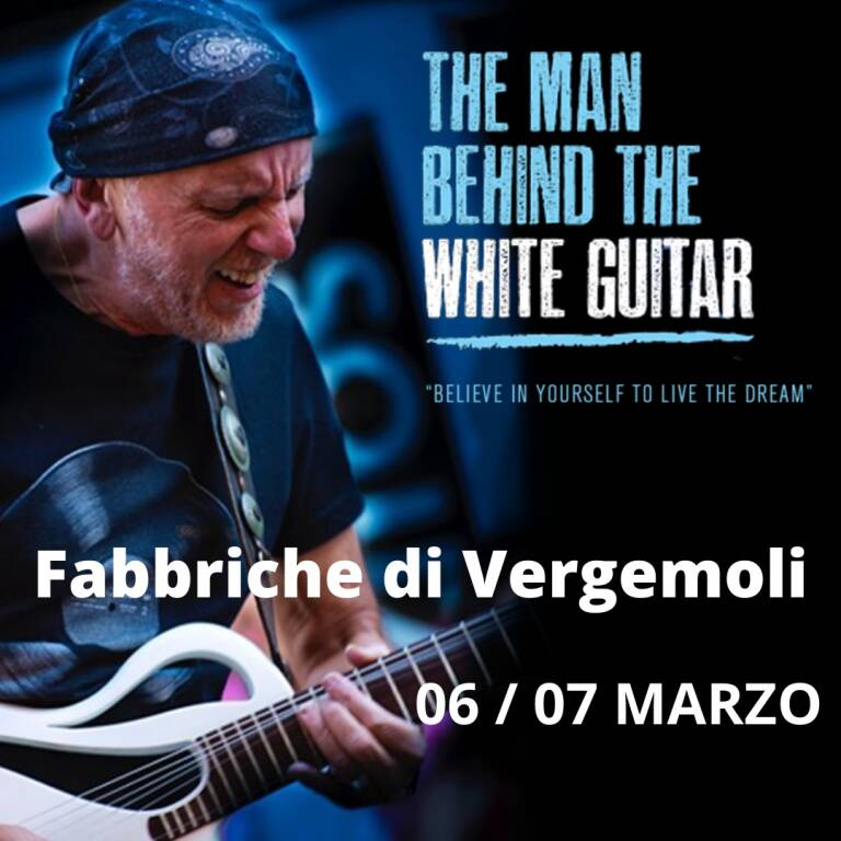The Man behind the white guitar