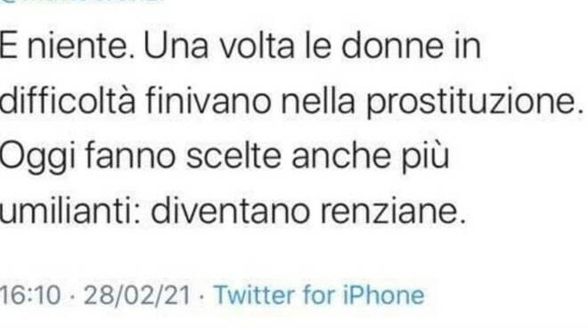 Tweet donne renziane