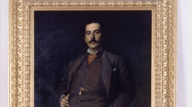 dipinto Giacomo Puccini Fondazione casa natale palazzo Mansi