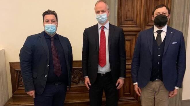 Eike Schmidt, Vittorio Fantozzi e Roberto Tamagnini