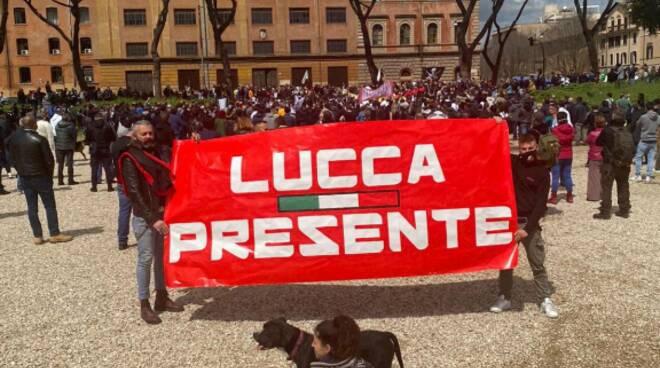 Giovanni Martini protesta ristoratori Lucca