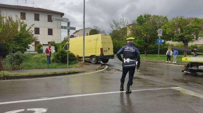incidente via Donica Santa Croce sull'Arno
