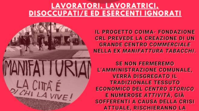 Locandina manifestazione 1 maggio Manifatturiamo