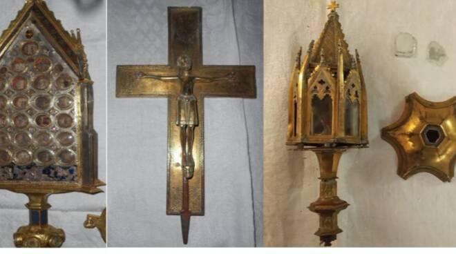 manufatti recuperati abbazia San Galgano furto museo seminario Monteriggioni