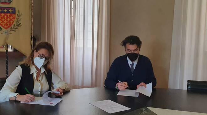 Maria Antonietta Gulino e Matteo Biffoni