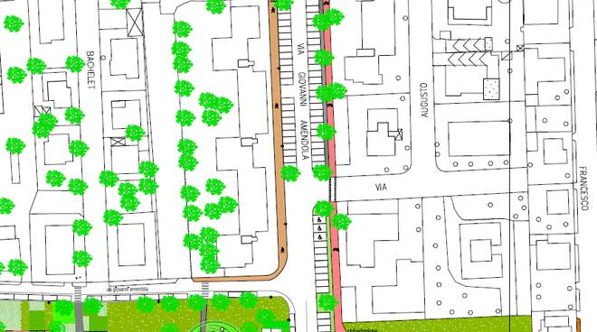 nuove planimetrie intervienti quartieri social sant'anna verde pubblico mobilità dolce