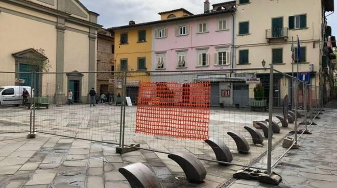 piazza Garibaldi Santa Croce sull'Arno lavori