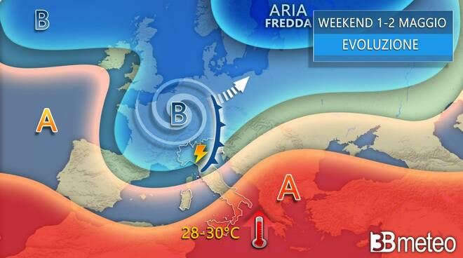 previsioni 3b Meteo weekend 1 maggio 2021
