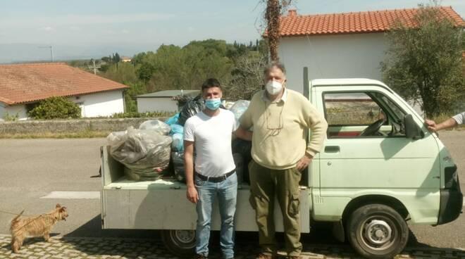 Ripuliamo Santa Maria a Monte pulizia boschi colline Pregiuntino Cerretti