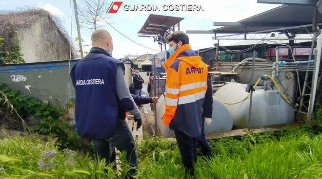 sequestro della guardia costiera di un autolavaggio a massarosa