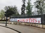 Striscioni Difendere Lucca Festa della Libertà