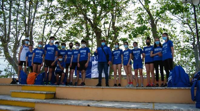 atleti virtus Lucca cadetti a Livorno