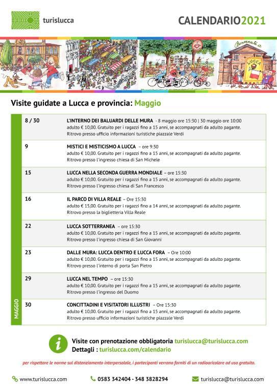 calendario visite guidate TourisLucca