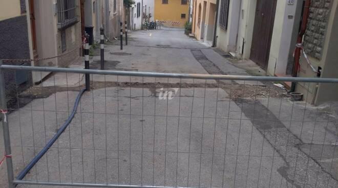 Cantiere via Borgo d'Arena a Marti