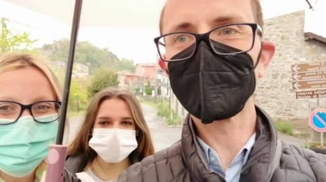 Claudio Gemignani e Laura Lucchesi sopralluogo Montefegatesi