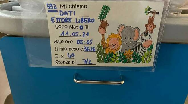 Ettore Libero Dati fiocco azzurro