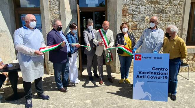 hub vaccinale a Massa Marittima