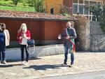 inaugurazione panchina rossa a Gragliana