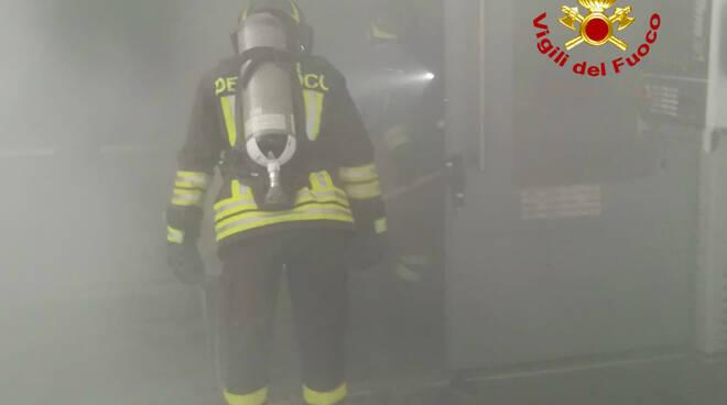 incendio macchinario