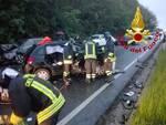 Incidente lungo la provinciale 25 alle Quattro Strade a Bientina primo maggio 21
