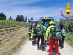 vigili del fuoco Incidente moto cross a Certaldo