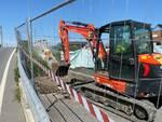 lavori al ponte sul rio Casali