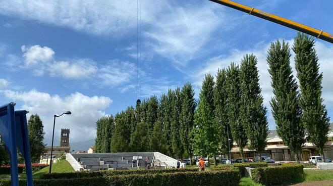 lavori parco pubblico di Capannori