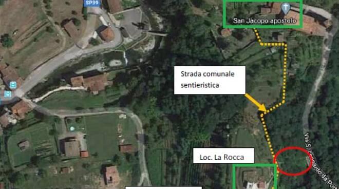 Lavoro sentiero che dalla chiesa di San Jacopo arriva fino alla Rocca del Riva