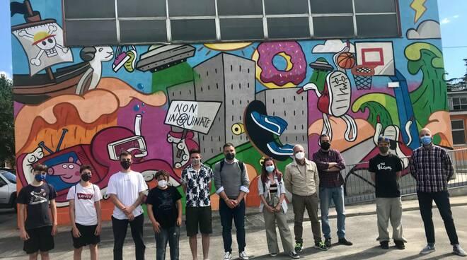 murale scuola Chelini San Vito